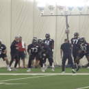 Image of Houston Texan Players practicing