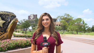 SPORTS2NITE CORRESPONDENT AT KYLE FIELD TALKING ABOUT THE GAME
