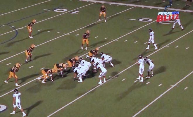 Image of high school football teams on field