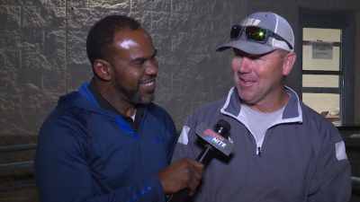 Image of Marcus Floyd interviewing Jeff Robbins