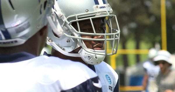 Image of a close up shot on Amari Cooper with helmet