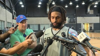 Image of Patty Mills during interviews