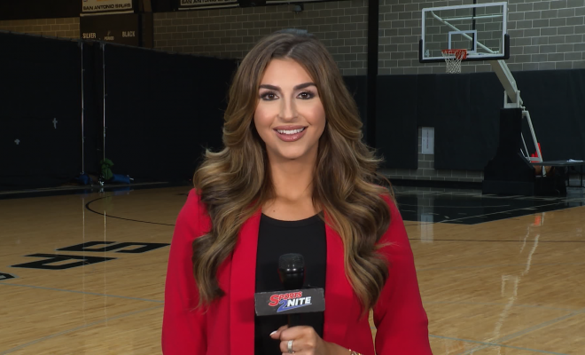 SPORTS2NITE CORRESPONDENT ISABELLA RADOVAN AT SPURS MEDIA DAY