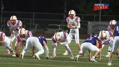 Image of Antonian Apaches and Boerne Greyhounds playing football on the field as game of the week