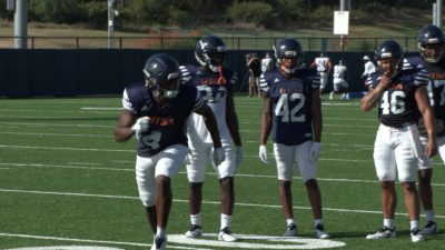 Image of UTSA football during practice