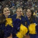 Image of Clemens Buffaloes cheerleaders shaking their pom poms