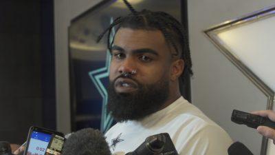 Image of Ezekiel Elliott getting interviewed