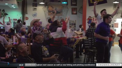 Image of LSU fans at The Lost Cajun