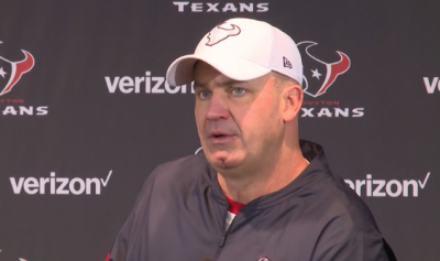Image of coach Bill O'Brien during press conference after win