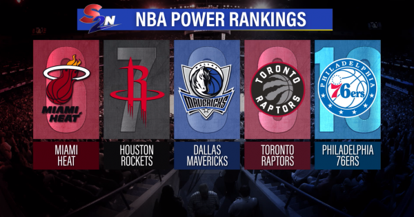 Image of NBA Power Rankings graphic showing ranks six through 10