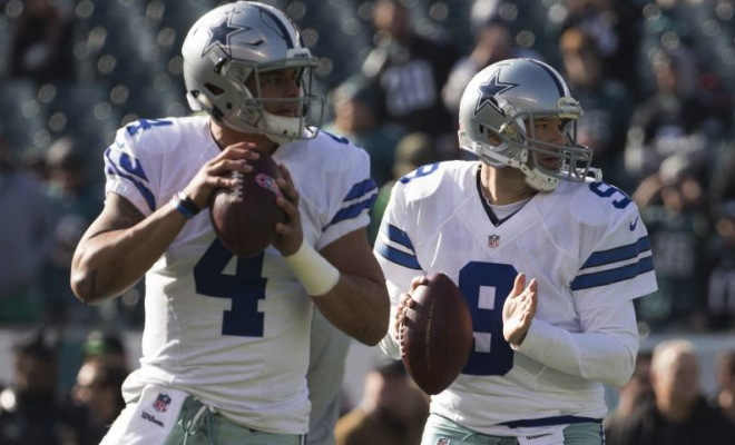 Image of Dak Prescott and Tony Romo