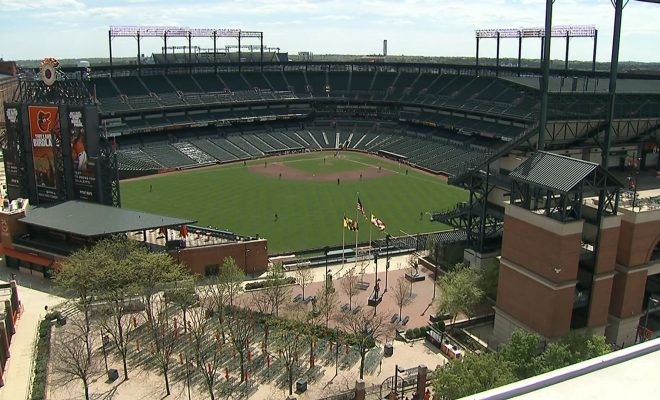 Image of baseball stadium