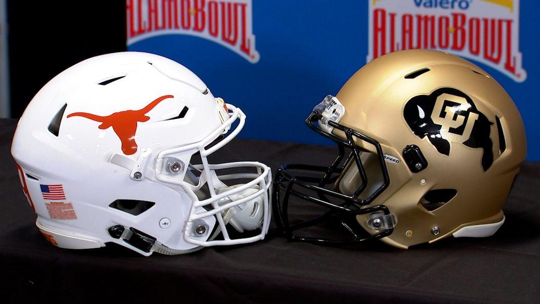 Image of Alamo Bowl helmets
